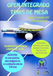 Open Integrado Tenis Mesa Setembro