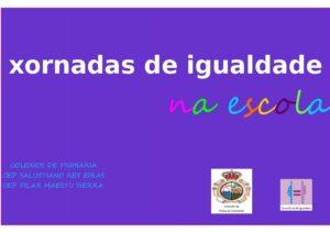 Cartaz Xornadas de igualdade na escola