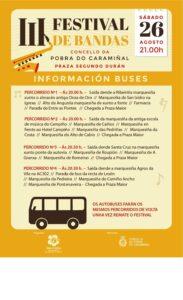 III Festival de bandas_percorrido buses