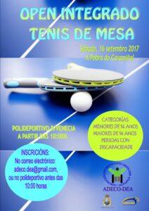 Open Integrado Tenis Mesa Setembro